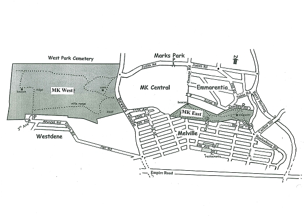 Melville Koppies Map