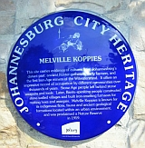 Melville Koppies Plaque